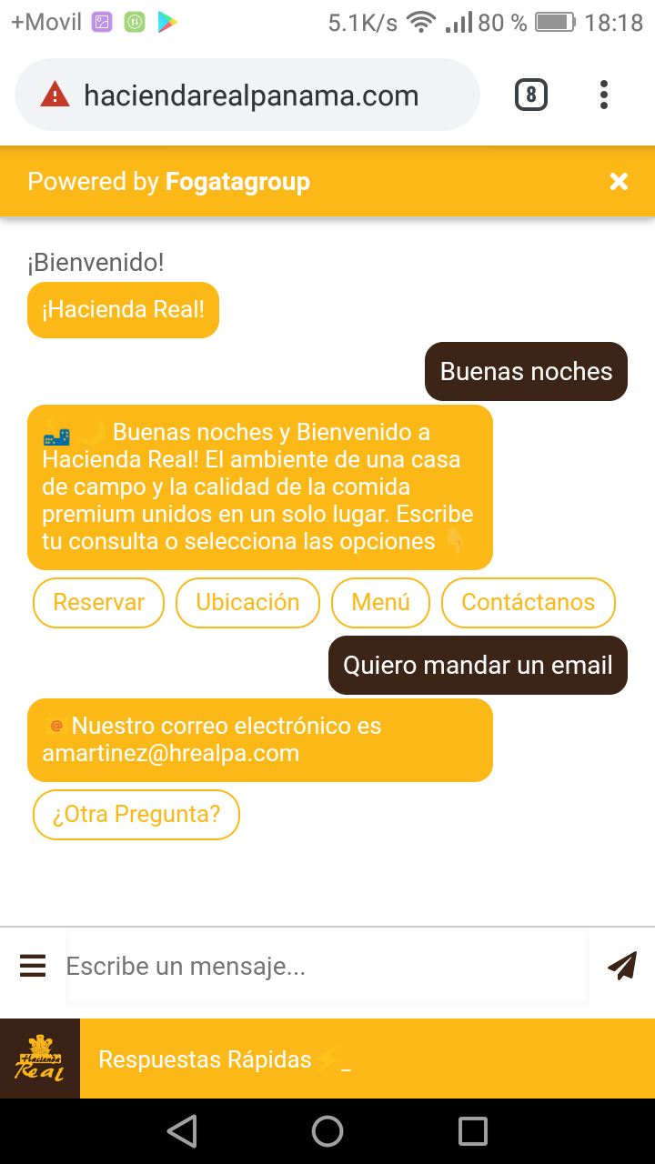 Chatbot Web Restaurante Hacienda Screenshot_2019-05-31-18-18-26